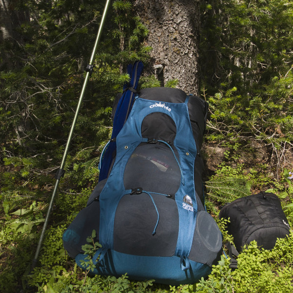 Рюкзак туристический Granite Gear Crown VC 60 60 Rg Black Dark  Slate Bleumine 9030982072957